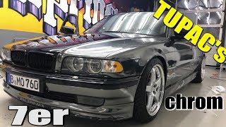 7er BMW - SCHWARZ CHROM foliert !!! 2PAC TRIBUTE  🔥4K🔥 | Folienprinz
