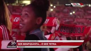 HINO DO BENFICA NA FESTA DO TETRA NO #MARQUÊS