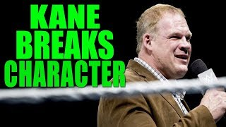 Kane Returns To WWE & BREAKS CHARACTER For First Time! (Retiring?)