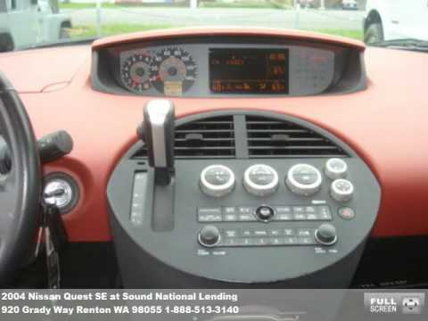 Sound Ford Renton >> 2004 Nissan Quest Problems, Online Manuals and Repair Information