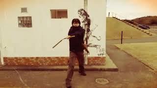 Banksy?with Nunchaku&Tonfa