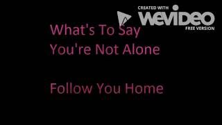 What's To Say You're Not Alone lyrics   Follow You