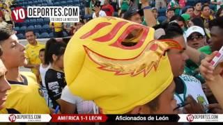 Luis Fernando Tena América vs.León acaba en empate por invasión de cancha en Chicago