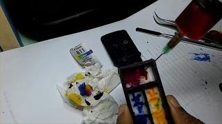 Cara mengisi tinta warna 811 pada printer canon pixma ip2770 dengan cara membongkar kasing cartridge