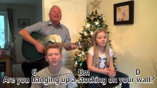 Merry Christmas Everybody - Slade - cover - easy chords guitar lesson - on-screen chords and lyrics