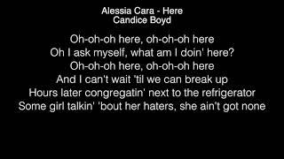 Candice Boyd - Here Lyrics (Alessia Cara) THE FOUR