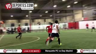 Marquette FC vs. Deportivo Madrid Liga 5 de Mayo Viernes