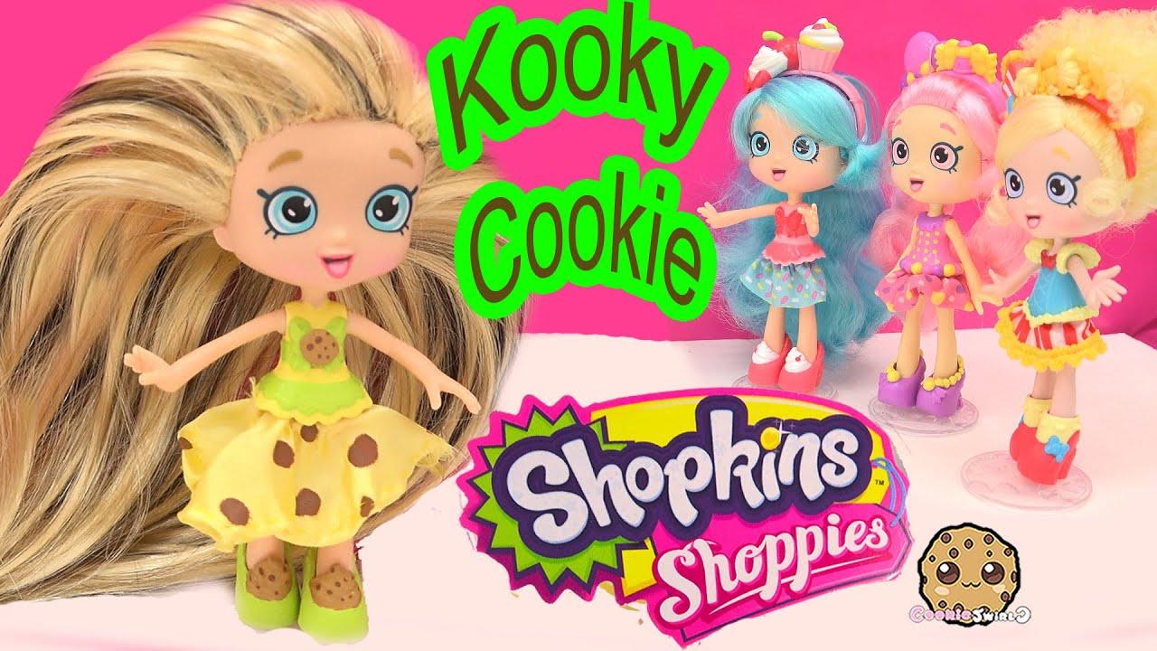 DIY Custom Kooky Cookie SHOPPIES SHOPKINS Doll - How To Craft Do It Yourself Video Cookieswirlc