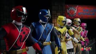 """Power Rangers Super Ninja Steel - Final Body Swap   Episode 21 """"Monster Mix-Up"""" Halloween Special"""