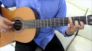 "Richard Marx Right Here Waiting Guitar Lesson for Beginner (Intro/Chorus) ""Fingerstyle Guitar"""