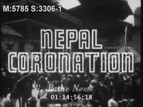 CORONATION OF KING MAHENDRA 1956.mov
