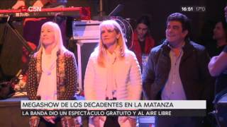 Megashow de Los Decadentes en La Matanza