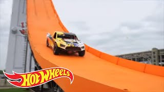 Team Hot Wheels: Tanner Foust's Reaction to His World Record-Breaking Jump | Hot Wheels