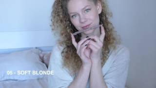 LIVE SWATCH #5 | Essence Eyebrow Designer - 05 Soft Blonde / 04 Blonde / 02 Dark Brown / 01 Black