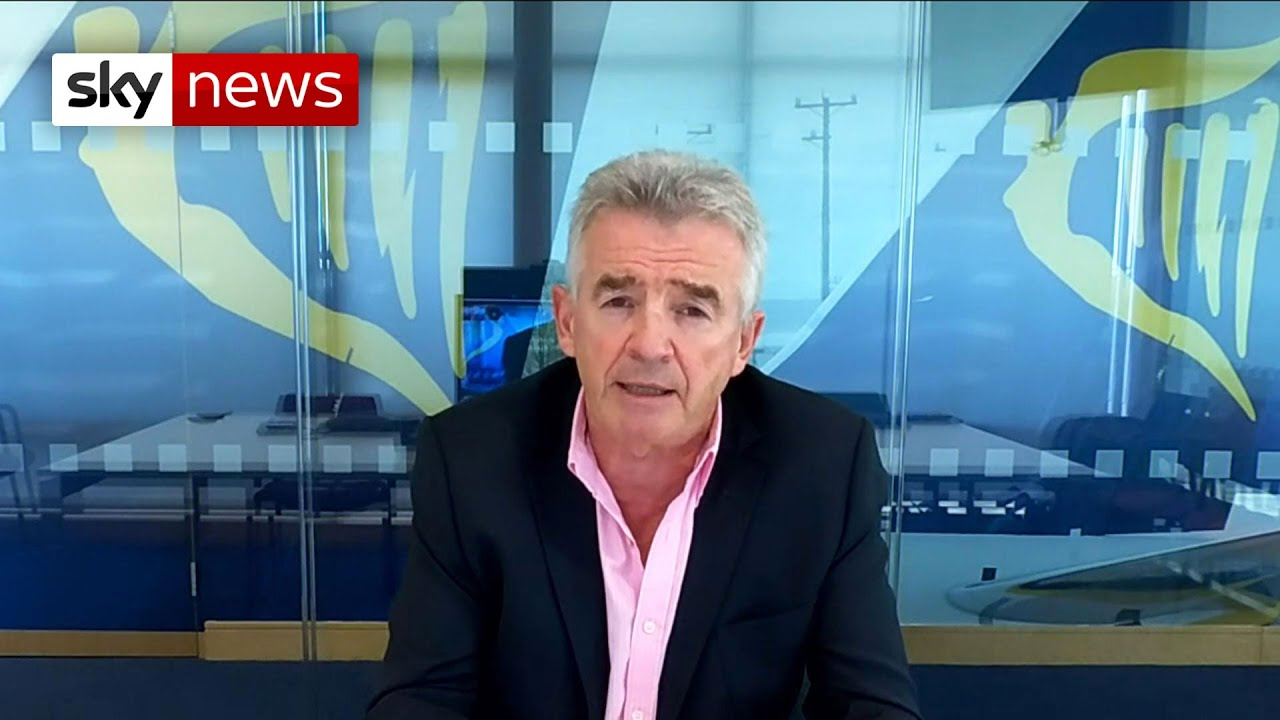 Ryanair boss says 'there's a greater danger of catching COVID-19 in Bolton than in Barcelona'