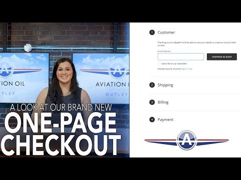 Brand new one-page checkout video
