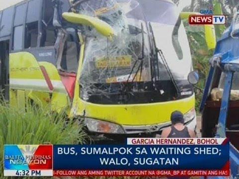 Bus Sumalpok Sa Waiting Shed Sa Bohol 8 Sugatan Video Gma
