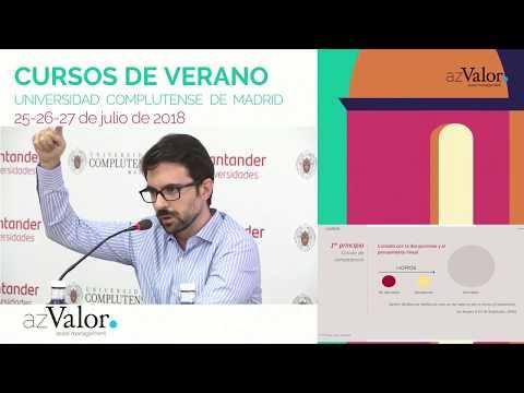 Javier Ruiz explica la metodología de Horos Asset Management en el curso de verano de la Universidad Complutense de Madrid organizado por  AzValor.