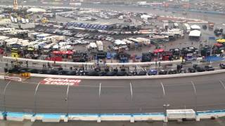 2015 Quicken Loans 400 - Time Lapse Of Teams Leaving Rainy Pit Road