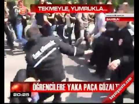 Samsun, Polis-Güvenlikçi Terörü: Kız öğrenciler saçından sürüklendi. AKP İleri Demokrasi