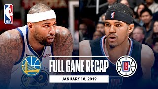 Full Game Recap: Warriors vs Clippers | DeMarcus Cousins' First Game With Golden State width=