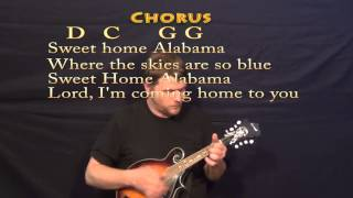 Sweet Home Alabama - Mandolin Cover Lesson with Chords, Lyrics