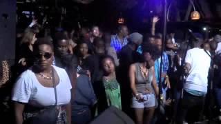 Party Goers enjoy DJ Renato Xtrova's mix at Mashujaa Day Celebration (Tree House)