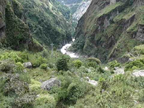 Martin in Nepal – Blick nach unten
