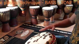 BASS - TONE - SLAP ➽ Djembe Spielen Lernen - Playing Techniques