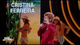 """Cristina Ferreira canta Nel monteiro """"azar na praia"""""""