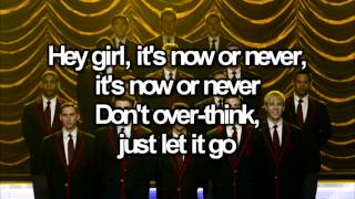 Glee - Live While We're Young (Lyrics)