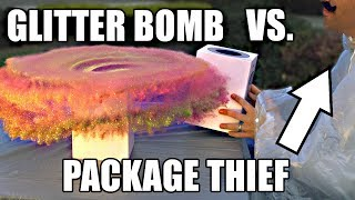 Package Thief vs. Glitter Bomb Trap width=