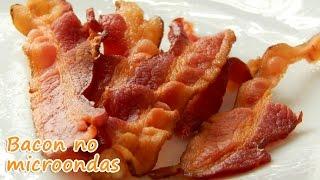 Bacon crocante e sequinho feito no microondas