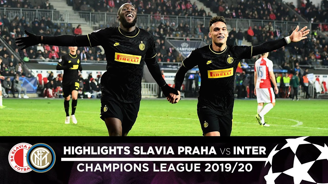 slavia praha 1-3 inter highlights