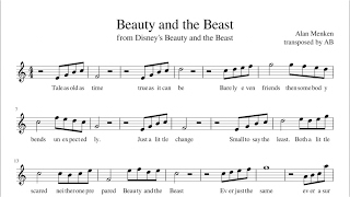 """Beauty and the Beast""  - Sheet Music PDF