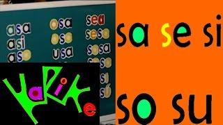 Tutorial: Aprendiendo la sílabas sa se si so su ( Ejercicio 9) CUU MX