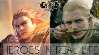 Top 5 Strike Of Kings | Arena Of Valor Heroes In Real Life | SoK , AoV irl