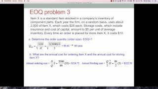 Lecture 11-5 EOQ Problem 3