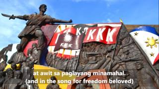 The Philippine National Anthem: 'Lupang Hinirang' (Tagalog/English subs)