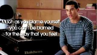 Glee - Let Me Love You (Until You Learn To Love Yourself) (Lyrics)