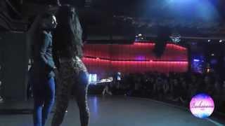 Daniel y Desiree bailando con Ephrem J cantando en vivo - Bachatea 2015 fiesta en Cats Madrid