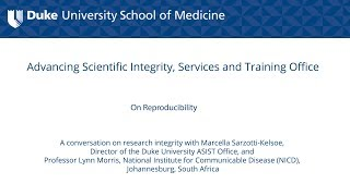 Promoting Research Integrity in the Academic Laboratory Setting: On Reproducibility
