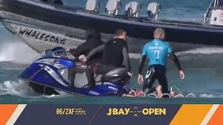 Surfer Mick Fanning ontsnapt aan haai