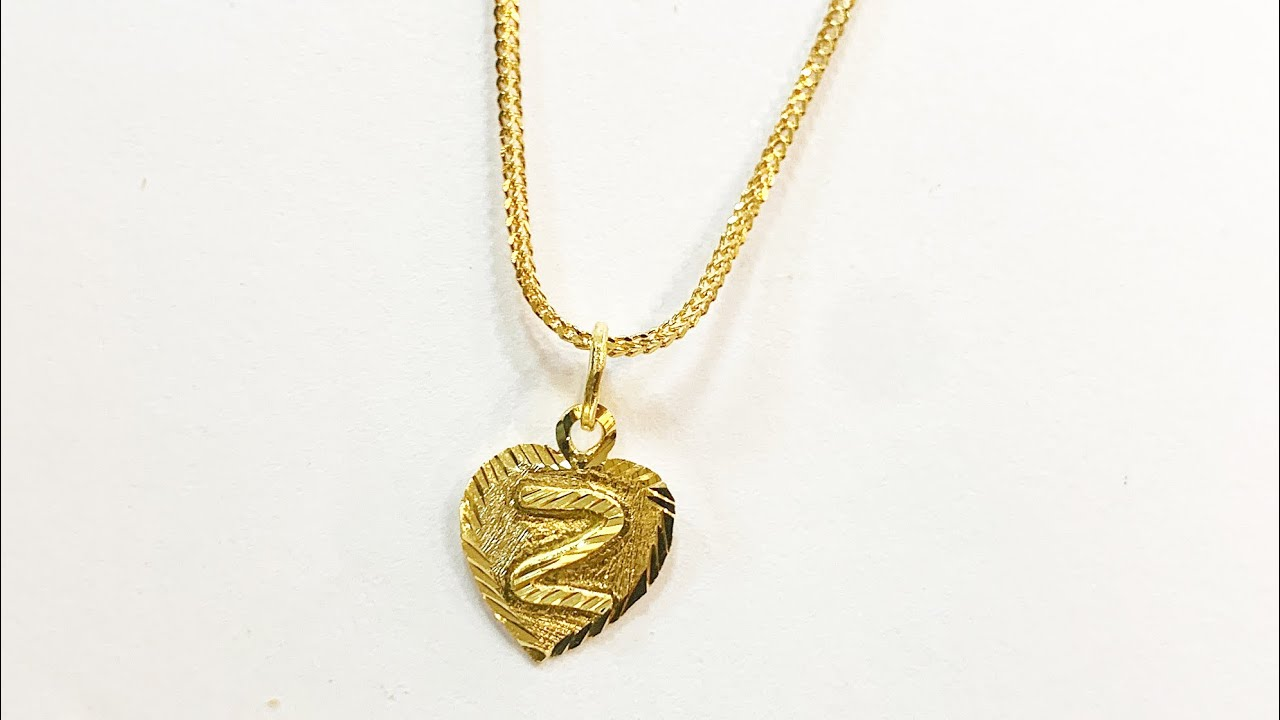 Personalised Heart Necklace Pendant   Gold Jewelry Making