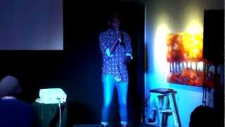 A list of things I want to talk about: Tenda McFly at TEDxMoreton Bay