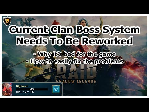RAID Shadow Legends | Current Clan Boss System Needs To Be Reworked