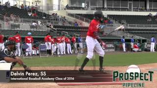 Delvin Perez Prospect Video, SS, International Baseball Academy Class of 2016