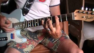 AC/DC Rock the blues away cover on Telecaster highway one