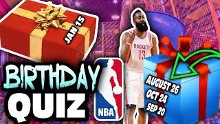 NBA BIRTHDAY QUIZ!