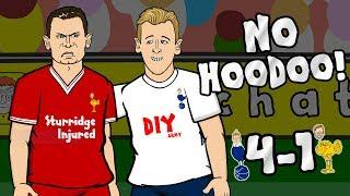 🎤NO HOODOO! 4-1🎤 Spurs vs Liverpool (Parody Cartoon 2017)